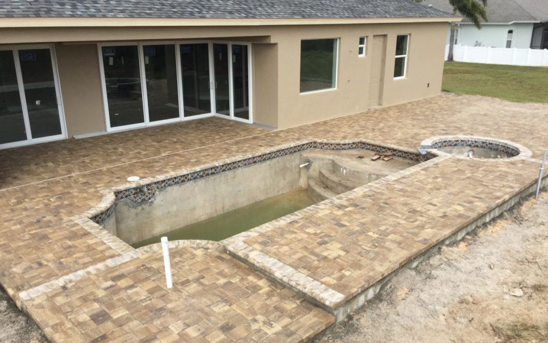 New Construction Pool Deck