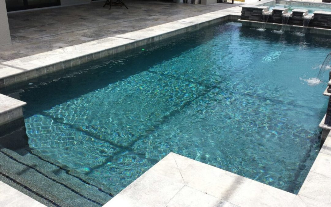 Pool Deck with Water Features